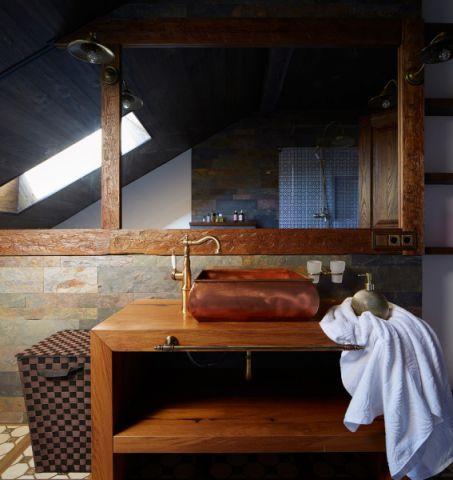 浴室洗漱台地中海风格装潢设计图片
