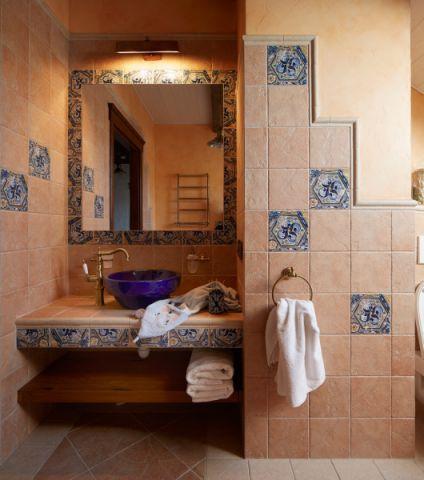 浴室背景墙地中海风格效果图