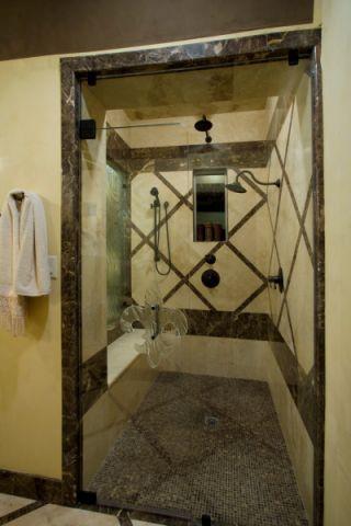 浴室背景墙地中海风格装修图片