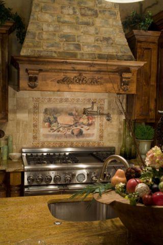 厨房厨房岛台地中海风格效果图