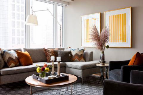 现代风格四居室108平米装饰图