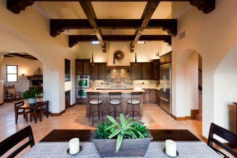 厨房厨房岛台地中海风格装饰效果图