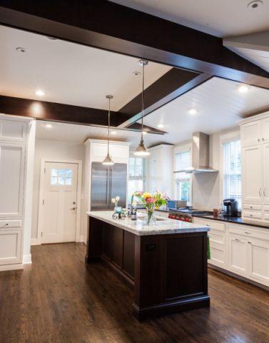 厨房地板砖混搭风格装饰图片