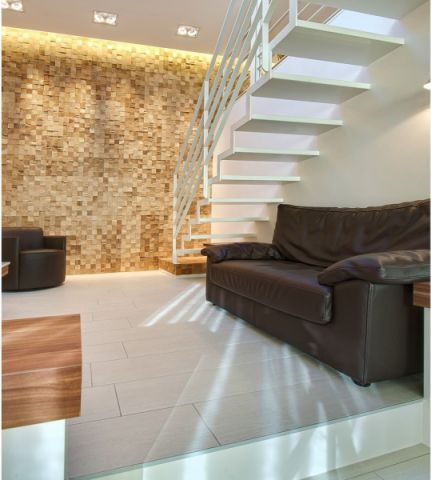 客厅地板砖现代风格装饰图片