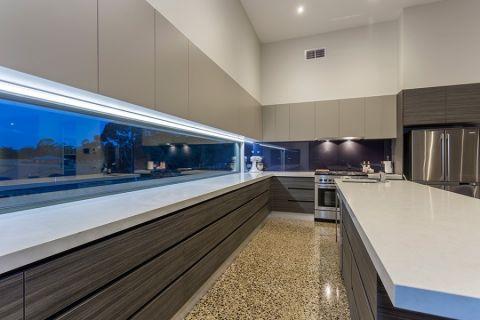 厨房地砖现代风格装潢设计图片