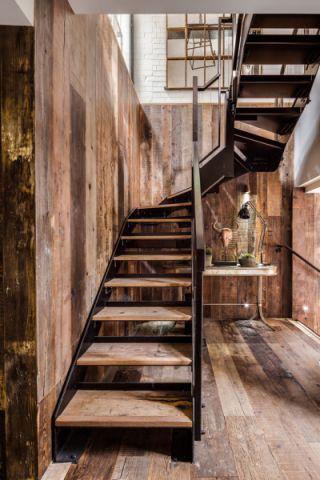 玄关楼梯混搭风格效果图