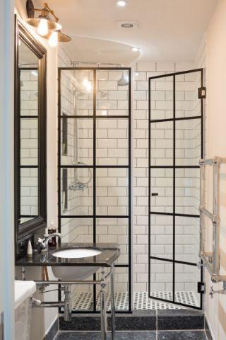 浴室洗漱台美式风格效果图