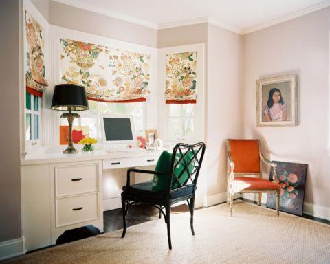 书房书桌混搭风格装修图片