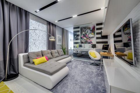 60平米公寓现代风格装修图片