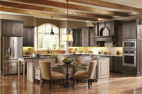 厨房餐桌混搭风格装饰设计图片