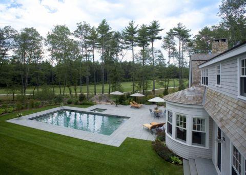 花园泳池美式风格效果图