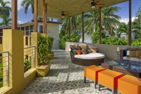 阳台沙发现代风格装潢效果图