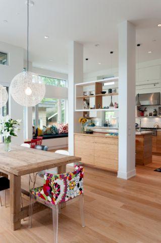 餐厅彩色餐桌现代风格装修图片