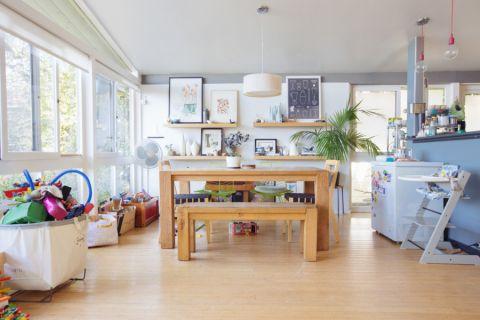 混搭风格庭院74平米装修图片