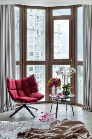 客厅飘窗现代风格装潢设计图片