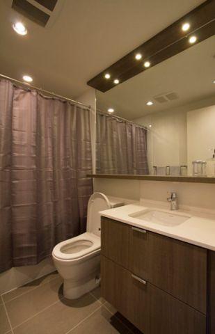 浴室咖啡色背景墙现代风格装饰效果图