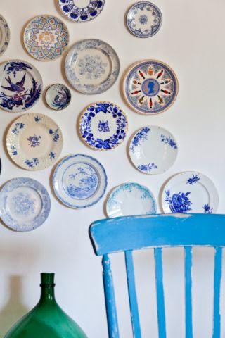 餐厅蓝色细节混搭风格装修设计图片