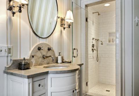 浴室洗漱台美式风格装修图片