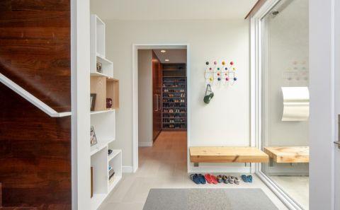 玄关地板砖现代风格装潢效果图