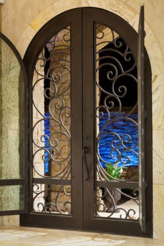 玄关地砖地中海风格效果图