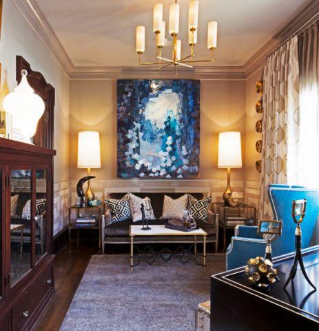 书房茶几美式风格装饰设计图片