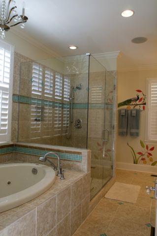 浴室吊顶混搭风格装潢设计图片