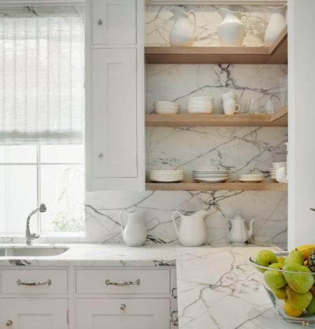 厨房白色窗帘地中海风格效果图