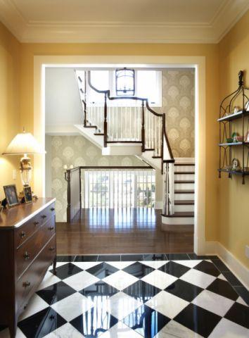玄关背景墙混搭风格装修效果图