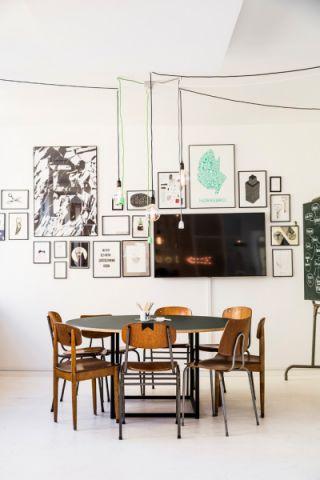 餐厅北欧风格装潢效果图