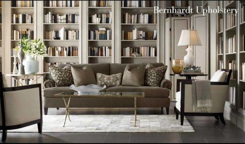客厅书架现代风格装潢设计图片