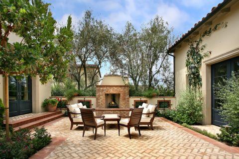 141平米庭院地中海风格装潢实景图片