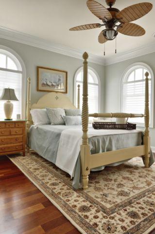卧室米色床美式风格装修设计图片