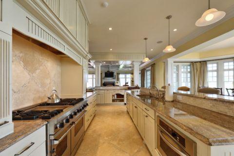 厨房米色橱柜美式风格效果图