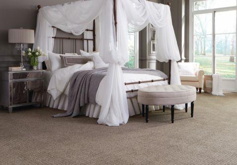 卧室白色床现代风格装修设计图片