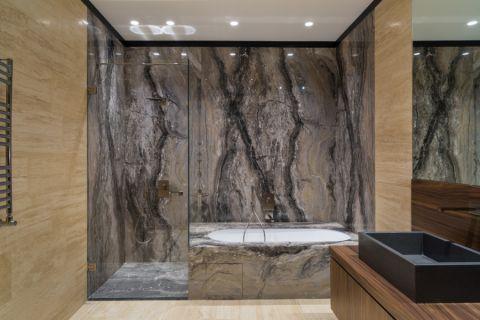 浴室灰色背景墙现代风格装潢效果图