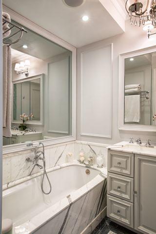 浴室浴缸美式风格效果图