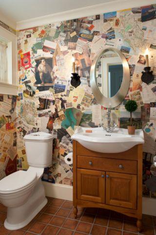 卫生间地砖美式风格装饰图片