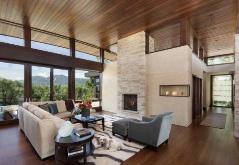 现代风格庭院151平米装修图片