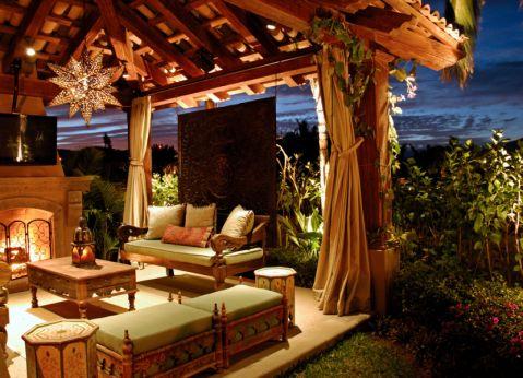 阳台茶几地中海风格效果图