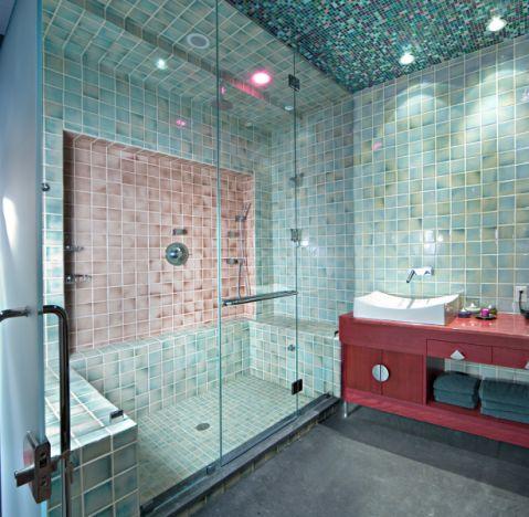 二居室86平米混搭风格装修图片