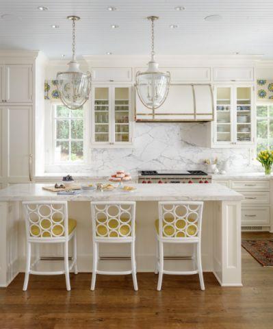 厨房白色吊顶美式风格效果图