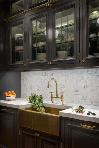 厨房灰色背景墙美式风格装修效果图