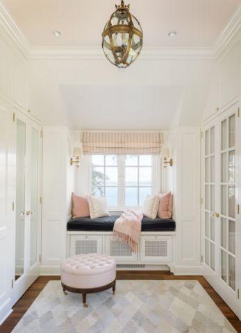 玄关粉色吊顶美式风格装修图片
