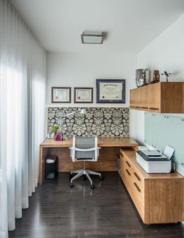 书房黑色地板砖现代风格装潢效果图