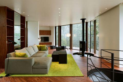 85平米二居室现代风格装修图片