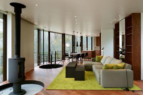 客厅现代风格效果图大全2017图片_土拨鼠优雅格调客厅现代风格装修设计效果图欣赏