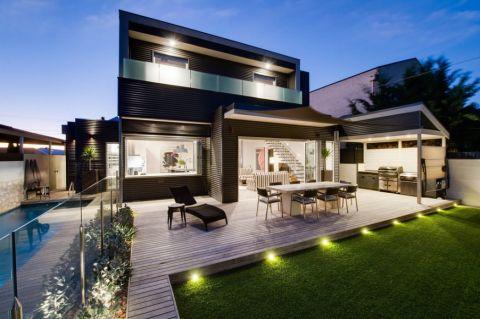 阳台白色细节现代风格装饰效果图