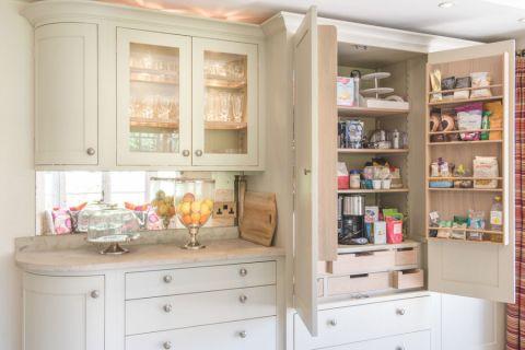 厨房黄色橱柜美式风格装饰效果图
