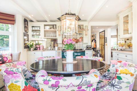 厨房黑色餐桌美式风格装饰图片