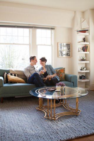 客厅咖啡色沙发混搭风格装潢效果图
